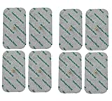Large Tens Pads With Stud Tens Electrodes For Beurer Sanitas Tens Machines Set of 8 by Healthcare World