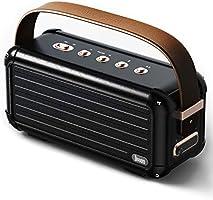 Divoom Mokka 40W retro bluetooth luidspreker, 25u speeltijd TWS draadloze draagbare luidspreker met premium...