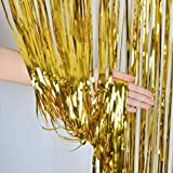 ZagGit Set of 2 Metallic Gold Foil Fringe Party...