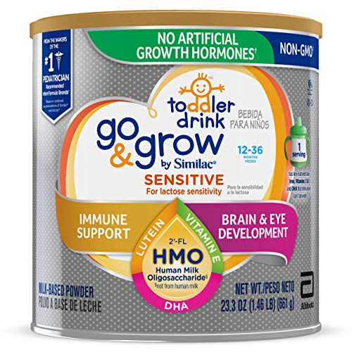 Similac Go & Grow Sensitive Go & Grow by Similac Sensitive Non-GMO with 2'-fl Hmo Toddler Drink, 6 Count