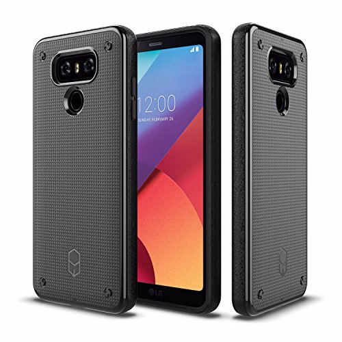 LG G6 Case Patchworks Flexguard Case Black for LG G6 - Slim Fit Protective Case Extreme Cover with Poron XRD