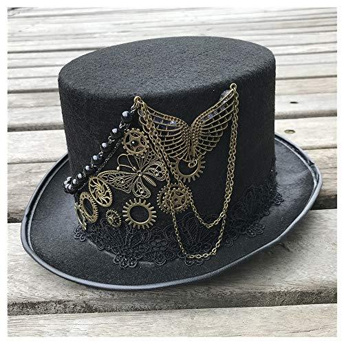 Sombrero De gama alta hecha a mano de Steampunk del sombrero de copa c