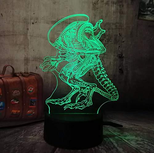 Anime Monster 3D Nachtlicht Led Illusion Lampe 16 Farben Ändern Touch Control,Ideale Geschenke Für Kinder Jungen Und Mädchen Wie An Geburtstagen Oder Feiertagen Weihnachten