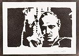 Poster El Padrino Don Vito Corleone Grafiti Hecho a Mano The Godfather - Handmade Street Art - Artwork