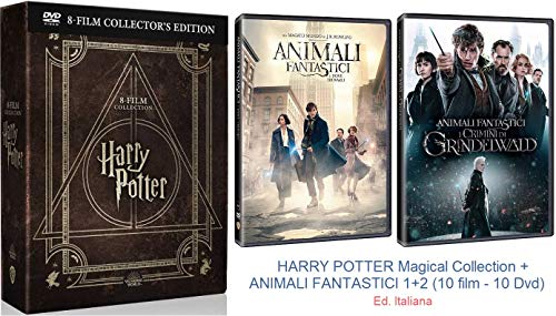 HARRY POTTER Magical Collection + ANIMALI FANTASTICI 1+2 (10 film - 10 Dvd)