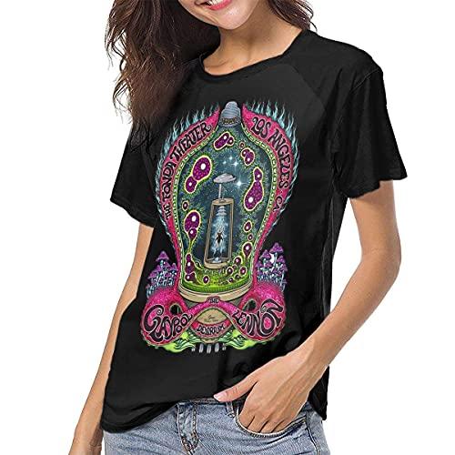 Claypool Lennon Delirium Woman Baseball T-Shirt Short Sleeve Blouses Tee Black Stylish Shirts
