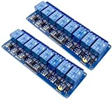 Huayao 2pcs 8 Channel DC 5V Relay Module with Optocoupler Can be Used as microcontroller Development Board Module can be Used as Home Appliance Control