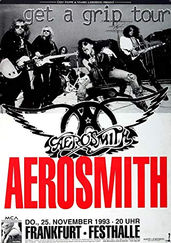 Aerosmith - Get A Grip, Frankfurt 1993 » Konzertplakat/Premium Poster   Live Konzert Veranstaltung   DIN A1 «