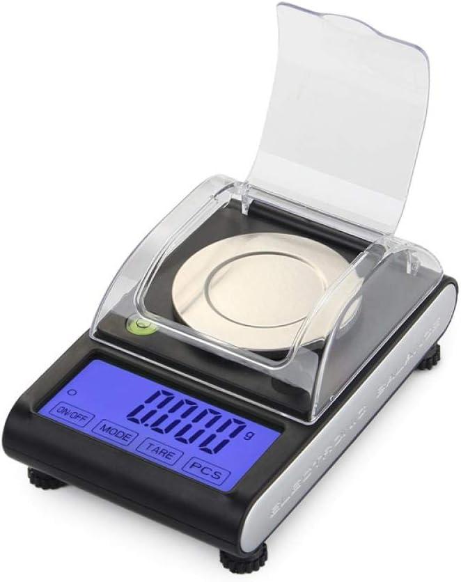 0.001g Precision Touch LCD Básculas electrónicas de joyería 50g / 0.001 Diamond Gold Germ Medicinal Pocket Báscula digital Balanza de pesaje