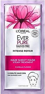 L'Oreal Paris Hair Care Ever-Pure Intense Repair Hair Sheet Mask, 1 Count