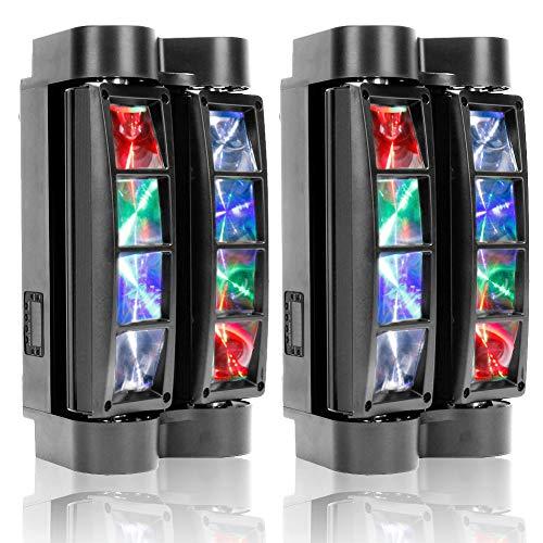 U`King Spider Moving Head Light 8x10W LEDs Beam DJ Lights