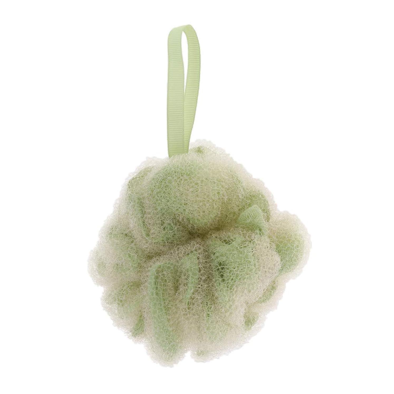 サミット平らなに渡ってP Prettyia ボディースポンジ シャボンボール ボール バス用品 角質除去 全3色 - 緑