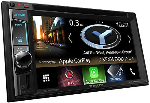 Kenwood DNX4180BTS Navitainer mit 15,7 cm WVGA-Monitor, Bluetooth, Apple Car Play, Spotify Control und Weblink Schwarz