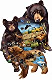 """Bear Family Adventure 1000 pc Jigsaw Puzzle 1000 Piece Puzzle - Completed Size: 25.5"""" x 39"""" Shaped Puzzle Artist: Cynthie Fisher Eco-Friendly - Soy-Based Inks - Recycled Board - Made in the USA Interlocking Pieces & Durable Construction"""