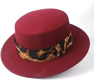 2019 Mens Womens Hats Unisex Men Women Flat Top Hat Autumn Pop Church Travel Hat Fascinator Wool Polyester Casual Wild Hat for Gentleman Fedora Flat Top Hat Size 56-58CM