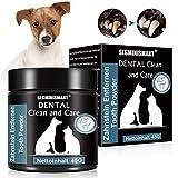 SEGMINISMART Zahnstein Pulver für Hunde, Zahnpflege für Hunde, Zahnsteinentferner Ergänzung bei Hunden, Dental Clean and Care, Natürliche und Wirksame Reinigung für Zähne und Zahnfleisch, 45g