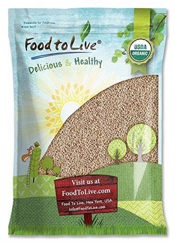 Orge mondé Bio, 10 Livres - Sans OGM, casher, cru, grain en vrac, produit des États-Unis