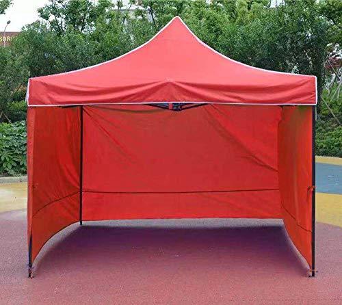 hdfj12142 Hochleistungs-Pavillon Wasserdichter Festzelt-Zelt-Pavillon mit 3 Seitenplatten UV-Schutz-Partyzelt für Gartencamping-Pop-up-Pavillon-3x4,5m rot