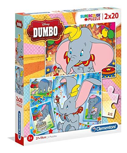 Disney Dumbo Puzzles, 2x20 Piezas, Multicolor (24756)