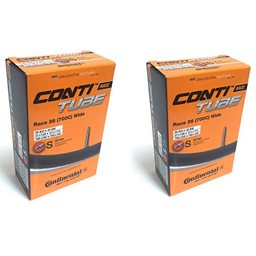 Continental Unisex's Race Tube Wide 28' Inner, Black, [25-622-32-630] Pack of 2