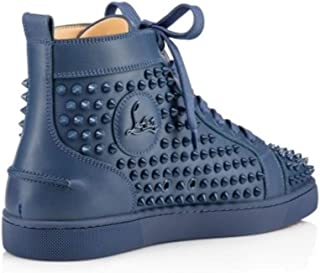 545af188847 Christian Louboutin Authentic Louis Flat Calf Spikes Blues Size 9