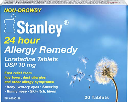 Stanley Pharmaceuticals Allergy Medicine, Loratadine, Fast Relief from Allergy Symptoms, 10mg