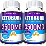 Keto Pills - 5X Potent (2-Pack | 3500MG) - Weight Loss Keto Burn Diet Pills - Boost Energy and Metabolism - Exogenous Keto BHB Supplement for Women and Men - Max Strength Formula
