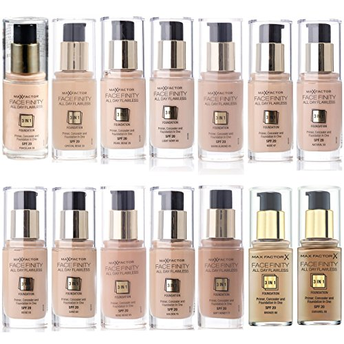 (1 PACK, Bronze 80) - MAX FACTOR 3 in 1 Facefinity Face Foundation Make Up, Over 10 Different Cosmetic Shades Poducts To Choose From - (1 PACK, Bronze 80)