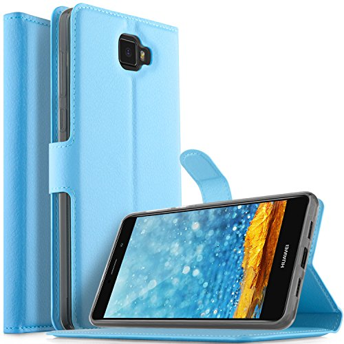 Elephone S8 case, KuGi Ultra-Thin MX Style PU Cover + TPU Back Wallet Stand Case for Elephone S8 Smartphone(Blue)
