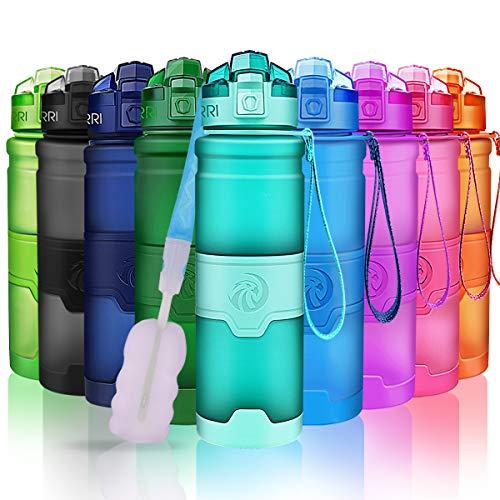ZORRI Borraccia Sportiva BPA Free Tritan 400ml /14oz, 500ml/ 17oz, 700ml/ 24oz, 1l / 32oz - Bottiglia da Palestra Riutilizzabile Ideale da Corsa, Bici, Ciclismo, Scuola Bambini, Viaggi e Altro