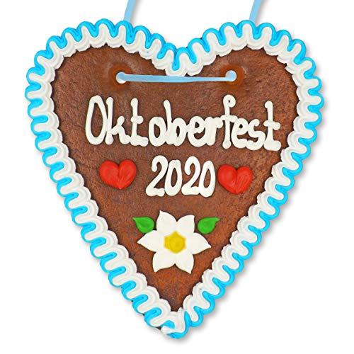 Lebkuchen Herz - 18cm - Oktoberfest 2020 - bekannt von der Wiesn, Volksfest, Oktoberfest