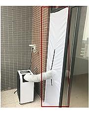 G&M endast 210 x 48 cm airlock-fönstertätning för mobil luftkonditionering och avgastorkar varmluftsstopp, kan användas på dörr och fönster Vitt