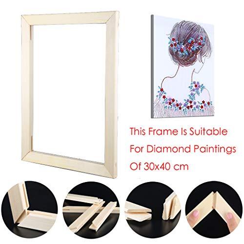 Sunnay Diamond Painting Set Full Groß, 5d Diamant Painting Bilder Vollbedeckung DIY Voll,Schmetterling,30x40cm,Tiere (Fotorahmen aus Holz, 30x40cm)