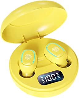 Auleset TWS-200 Trådlös Bluetooth 5.0 In-ear HiFi enfärgad uppladdningsbara hörlurar – gul