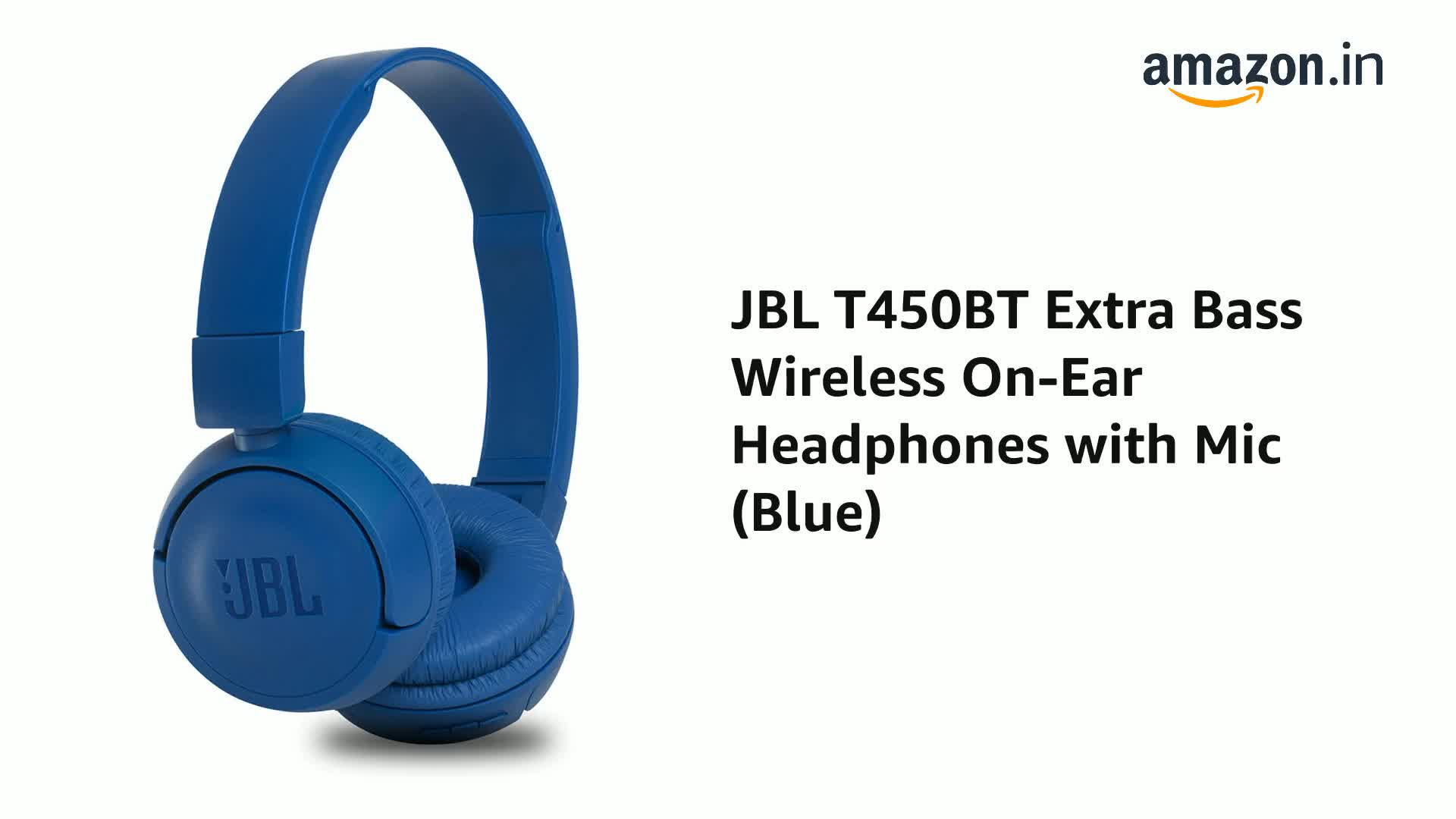 Jbl T450bt Extra Bass Wireless On Ear Headphones With Amazon In Electronics