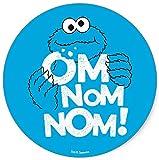 Sesame Street Cookie Monster Nom Nom Nom Iron On Transfer for T-Shirts & Other Light Color Fabrics #2 Divine Bovinity