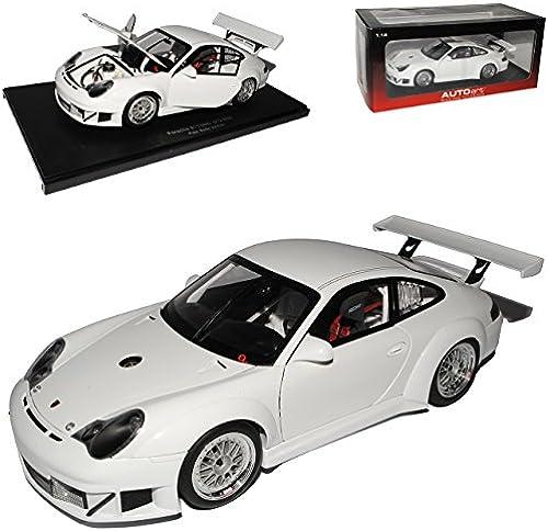 AUTOart Porsche 911 996 GT3 RSR Weißs Plain Body Version 80584 1 18 Modell Auto mit individiuellem Wunschkennzeichen
