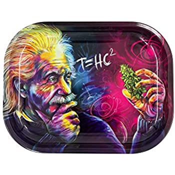 """Rolling Tray Sleek Metal Rolling Tray 7"""" by V Syndicate, Elegant & Stylish Color Finish with Smooth Rounded Edges, Decorative Tray Beautiful Art Lightweight, Small"""