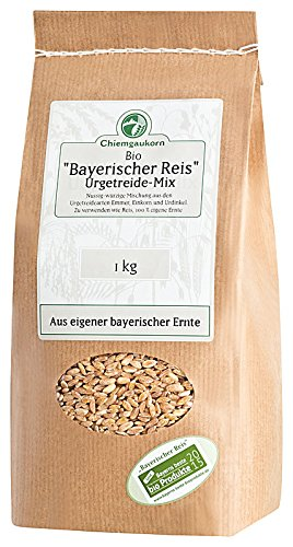 Chiemgaukorn Bio Urgetreide-Mix 1 kg, Bayerischer Reis, Perl-Emmer, Perl-Dinkel, Perl-Einkorn