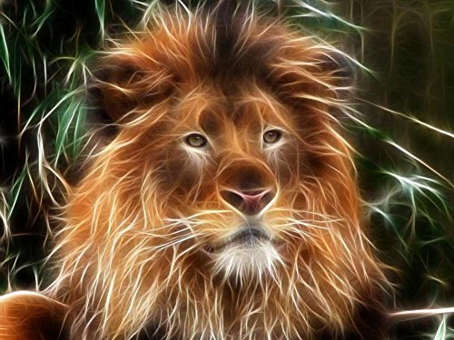 1000 Piece Wooden Jigsaw Puzzle Fractal Lion Large Puzzle Game For Adults and Teenagers