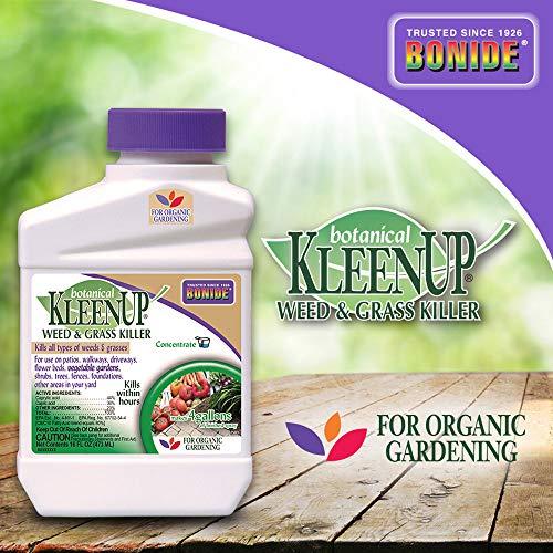 Bonide 7503 Botanical KleenUp Weed Killer, 16 oz, White