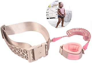 Baby Anti Lost Belt Wrist Link Child Toddlers Safety Leashes, 360° Rotation Night Vision Walking Harness Belt with Key Lock for Kids