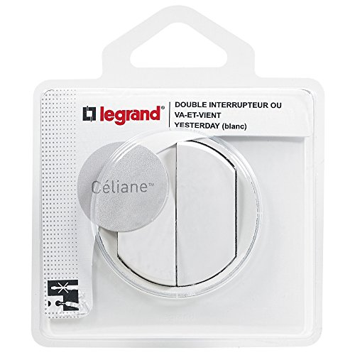 Legrand 099566 Céliane Double Interrupteur Va-et-vient, 250V, Blanc