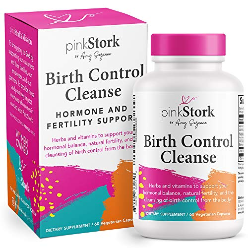 Pink Stork Birth Control Cleanse: Hormone and Fertility Support + Chasteberry, Fertility Supplements for Women, Hormone Balance for Women, Women's Fertility Hormone Balance, Women-Owned, 60 Capsules