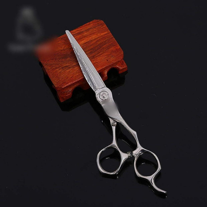 直径半径入浴Hairdressing 6インチ美容院プロフェッショナル理髪ツールフラットシアーヘアカット鋏ステンレス理髪はさみ (色 : Silver)