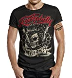 T-Shirt Rockabilly Design: Big Size Print Rockabilly Never Dies! XXL