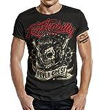 T-Shirt Rockabilly Design: Big Size Print Rockabilly Never Dies! XXXL