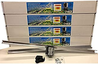 (4) Light Rail 4.0 AdjustaDrive Kits Motor with Rail, Robotic Grow Light Mover Genuine Solidly Made in USA