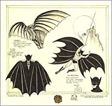 """Batman Da Vinci"" Framed Fine Art Print Limited Edition Signed by Bob Kane W/ COA"