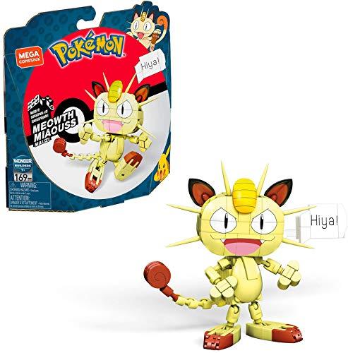 Mega Construx GKY98 - Pokémon Medium Pokémon Mauzi mit 169 Bausteinen, Spielzeug ab 7 Jahren